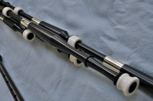Blackwood pipes with antler mounts