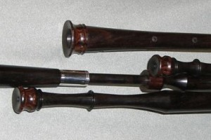 Blackwood pipes with cocobolo mounts