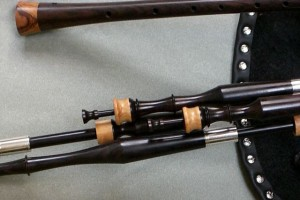 Blackwood pipes with olive mounts