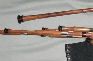 Mopane pipes with blackwood mounts