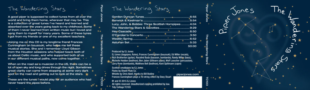 The Wandering Stars CD - outside