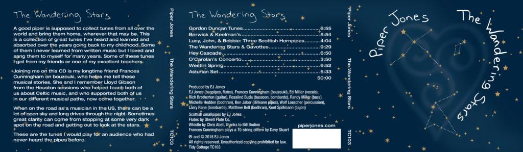 The Wandering Stars CD - outside